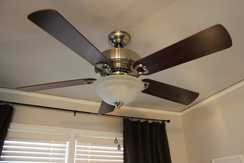 a ceiling fan makeover staging by m. Black Bedroom Furniture Sets. Home Design Ideas